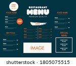 nice design for restaurant food ...