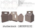 carrier house box packaging... | Shutterstock .eps vector #1805093152