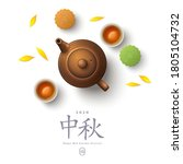 Colorful Mooncakes  Teapot And...