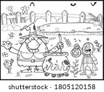 Halloween Coloring Page   Blac...