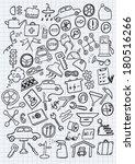 car hand drawn set | Shutterstock .eps vector #180516266