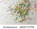 Multicolored Balls Of Candy Are ...