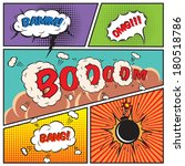 comic speech bubbles and comic... | Shutterstock .eps vector #180518786