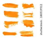 set orange gouache realistic... | Shutterstock .eps vector #180519512