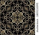gold baroque lines seamless... | Shutterstock .eps vector #1805210395