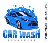 car wash logo design concept... | Shutterstock .eps vector #1805210548