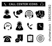 call center service icons set... | Shutterstock .eps vector #180523382