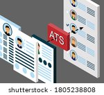 resumes in ats  applicant... | Shutterstock .eps vector #1805238808