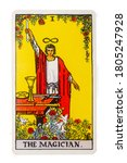 Small photo of Yala Province, Thailand 29 August 2020. illustrative editorial tarot cards the magician.