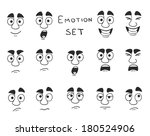 facial avatar emotions icons... | Shutterstock .eps vector #180524906