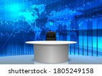 white table and chairs with... | Shutterstock .eps vector #1805249158