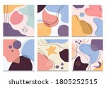 hand drawn various shapes and... | Shutterstock .eps vector #1805252515