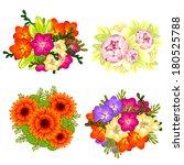 flower set | Shutterstock .eps vector #180525788