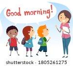 illustration of stickman kids... | Shutterstock .eps vector #1805261275