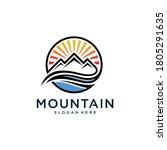 mountain logo design...   Shutterstock .eps vector #1805291635