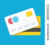 vector credit card icon | Shutterstock .eps vector #180530012