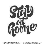 stay at home handwritten...   Shutterstock .eps vector #1805360512