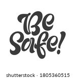 ba safe handwritten lettering....   Shutterstock .eps vector #1805360515