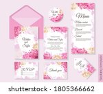 vector floral template for... | Shutterstock .eps vector #1805366662