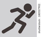 summer sports icons   running | Shutterstock .eps vector #180537902