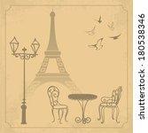 Paris Landscape On Vintage...