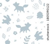 seamless childish pattern with...   Shutterstock .eps vector #1805390122
