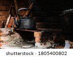 Traditional Kettle In Rustic...