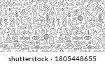 world health day. seamless... | Shutterstock .eps vector #1805448655