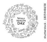 world health day. concept art... | Shutterstock .eps vector #1805448658