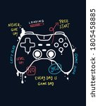 vector joysticks gamepad ... | Shutterstock .eps vector #1805458885