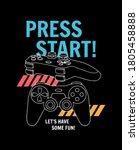 vector joysticks gamepad ... | Shutterstock .eps vector #1805458888