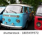 Front View From One Blue Vw...