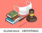 3d isometric flat vector... | Shutterstock .eps vector #1805490862