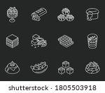 world famous desserts chalk...   Shutterstock .eps vector #1805503918