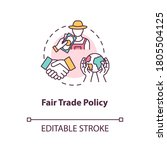 fair trade policy concept icon. ... | Shutterstock .eps vector #1805504125