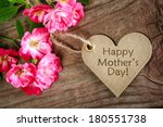 heart shaped mothers day card... | Shutterstock . vector #180551738
