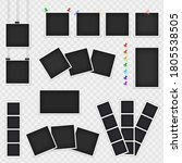a set of photo frames hanging... | Shutterstock .eps vector #1805538505