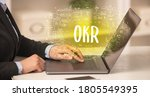 hand working on new modern... | Shutterstock . vector #1805549395
