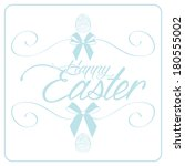 vector happy easter template... | Shutterstock .eps vector #180555002