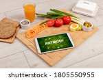 healthy tablet pc compostion... | Shutterstock . vector #1805550955