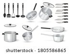 realistic utensil. 3d steel...   Shutterstock .eps vector #1805586865