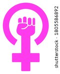 feminism symbol  raster... | Shutterstock . vector #1805586892
