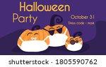 halloween party ad banner ... | Shutterstock .eps vector #1805590762