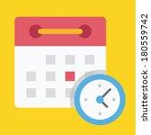 vector schedule icon | Shutterstock .eps vector #180559742