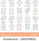 agile icons including new  old... | Shutterstock .eps vector #1805598832