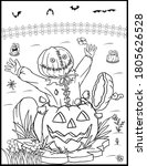 coloring book page for...   Shutterstock .eps vector #1805626528