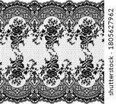 seamless lace pattern  flower... | Shutterstock .eps vector #1805627962