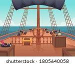 wooden pirate ship. captain... | Shutterstock .eps vector #1805640058