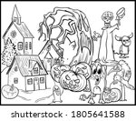 coloring book page for...   Shutterstock .eps vector #1805641588