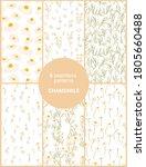 set of six seamless patterns of ... | Shutterstock .eps vector #1805660488